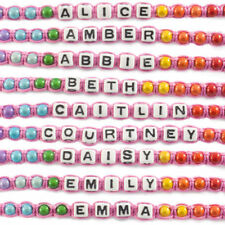 Family & Friends Adjustable Beaded Costume Bracelets
