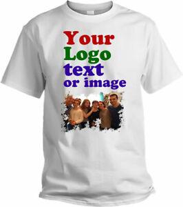 Personalized Men' Women' T-shirt Printing Your Own Design Name Tex Logo Photos