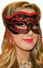 Red and black masquerade mask free post
