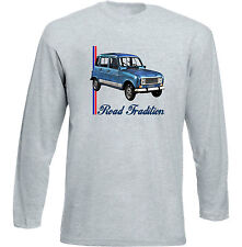 RENAULT 4L INSPIRED - GREY LONG SLEEVED TSHIRT- ALL SIZES IN STOCK