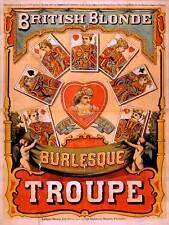 Teatro vodevil británico rubia Burlesque Reino Unido EE. UU. Vintage Anuncio Cartel 2208PY