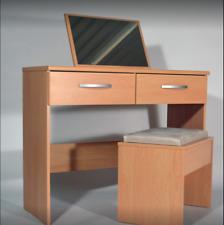 Harwich 2 Drawer Mirror Dresser And Stool Beech Effect