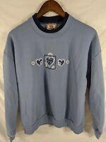 Top Stitch Morning Embroidered VTG 90s Ugly Grandma Sweatshirt Sweater L Street