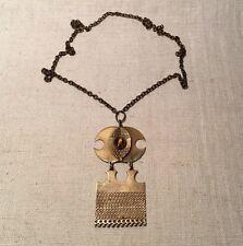 Kalevala Koru Finland Vintage Mid Century Modern Bronze & Tigers Eye Necklace