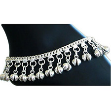 Fancy Indian Traditional Belly Dance Ghungroo Anklet with Jingling Bells-Toned