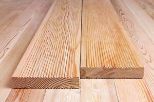 Terrassendielen geriffelt 27 х 140 Sibirische Lärche A/B Dielen für Holzterrasse