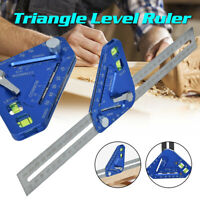 High Precision Triangle Level Woodworking Ruler Angle Rulers Wood Measuring Tool