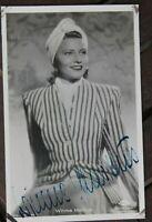 34743 Foto Ross Editore Originale Autografo Ak Winnie Markus Del 1940 Film