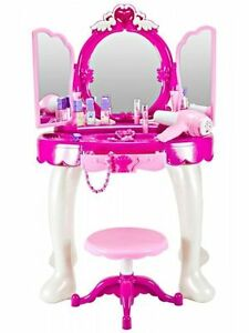 Large Girls Glamour Mirror Dressing Table Mirror Play Set Kids Makeup Game