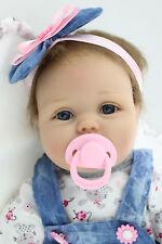 55cm Silikon Lebensecht M?dchen Reborn Baby Puppe Babypuppe mit Kleider + Nippel