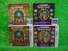 3DS PROFESSOR LAYTON X2 Azran Legacy + Miracle Mask Nintendo PAL UK
