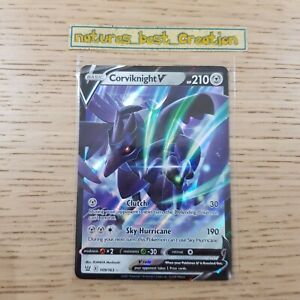 MINT/NM Condition Corviknight V 109/163 Holo/Shiny Pokemon Card Steam Siege Rare