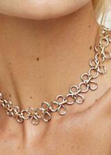 Free People Amanda Two Tone Metal Choker Necklace NWT