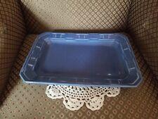Longaberger Woven Traditions Pottery Cornflower Blue 9x13 Serving Tray/Platter
