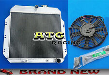 3 Core Aluminum Radiator & Fan for 1949-1954 Chevy Sedan/Coupe V8 Conversion