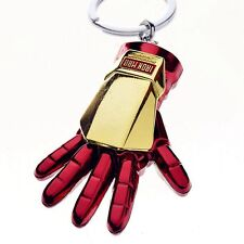 Iron Man Red Metal Hand Alloy Keychain Key Chain Ring Keyring Present Gift