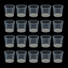 20pc 20ml Plastic Mini Lab Cylinder Measuring Cup With Scale For Reptile