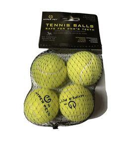 4 Packages Hyper Pet Regular Tennis Balls for Dog Exercise (4 Pack) 16 Balls!!!