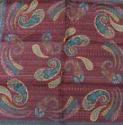 "New SANTOSTEFANO Purple Gold Green 12"" Silk Pocket Square Handkerchief NWT 150"