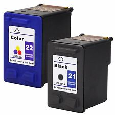 2 Pack HP 21 22 Ink Cartridges For OFFICEJET J3608 J3650 4315v 4315xi J3625