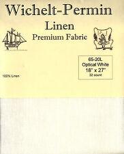 "Wichelt-Permin 32Ct Optical White Linen Cross Stitch Fabric 18"" x 27"" #65-20L"