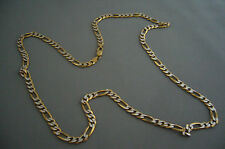 9ct gold figarro chain, 35gms, 75cm long, 5mm wide, used
