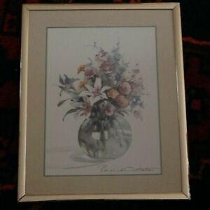 "Beautiful Floral Vase Print By Rosalind Oesterle - 10"" x 8.1/4"""