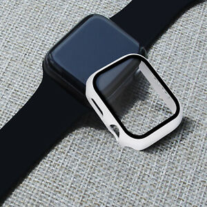 For Apple Watch Case + Tempered Glass 38mm 40mm 42mm 44mm Full Cover  Protector