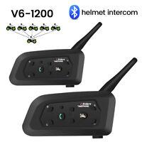 V6 1200M casque moto Bluetooth Interphone 3.0 casque interphone mains libres G