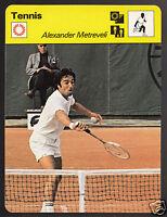 ALEXANDER METREVELI Russian Tennis Player Photo 1978 SPORTSCASTER CARD 43-05