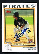 Javier Guzman #T196 signed autograph auto 2004 Topps Baseball Trading Card