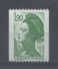FRANCE TIMBRE ROULETTE 2426a N° rouge au verso LIBERTE vert - LUXE **
