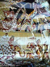Glanz Motiv Tuch Stola mit Satin Tiger Adler Elefant edel Schal 102 x 102 NEU #1