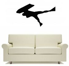 Bodyboarder Surfing Body Board Wall Art Sticker Free Postage