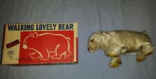 Vintage Modern Toys Japan Walking Lovely Polar Bear with original box