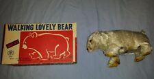 Vintage Modern Toys Japan Walking Lovely Polar Bear with original box