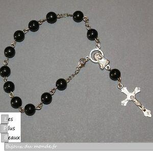 Bracelet Strand Cristiano Rosary Black Pearl 0 5/16in New Choice