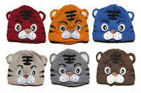 Baby Girl Boys Kids Toddler Crochet Knit Cute Tiger Hat Cap Beanie Bonnet Hats