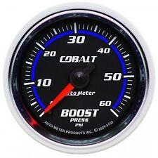 "Auto Meter 6105 Cobalt Mechanical Boost Press Gauge 2-1/16"" Full Sweep 60 Psi"