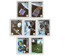 NIC8107 Satellites, ground and space stations 7 stamps