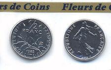 FDC : Pièce 1/2 franc semeuse 1982 neuve/scellée d'un coffret FDC