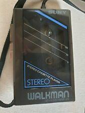 Vintage Sony Walkman WM-25 Walkman Cassette Player 1980s incl manual & strap