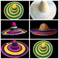 NEW Mexican Hat Spanish Straw Hat Sombrero Hat Fiesta Fancy Dress Costume
