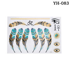 1PCS Cute Sexy Gold Waterproof Temporary Tattoo Stickers Necklace Bracelet Tatto