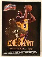 1997-98 Fleer Kobe Bryant Million Dollar Moments Los Angeles Lakers Guard NBA