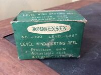 Vintage Jorgensen No. J100 Level Wind Bait Reel Box - Box & Instr Only No Reel