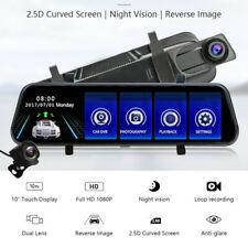 """Dvr coche cámara de visión trasera 10"""" Pantalla Táctil Completo Cámara en Tablero Lente Dual Grabadora de video"""