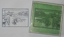 Persistence of Memory by Dali large UM rubber stamp cool!