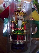 "JC Penney's Jenny Jeff Glass Nutcracker Christma Ornament 6""w/box"