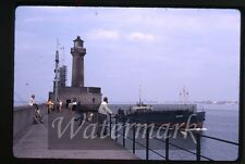 Aug 1969 kodachrome photo slide Zeebrugge Belgium ship  lighthouse